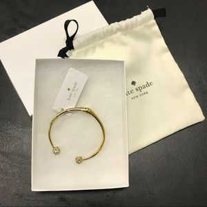NWT- Kate Spade Gold and Crystal Bracelet
